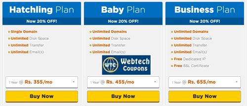 Best savings on web hosting using Hostgator India Coupons