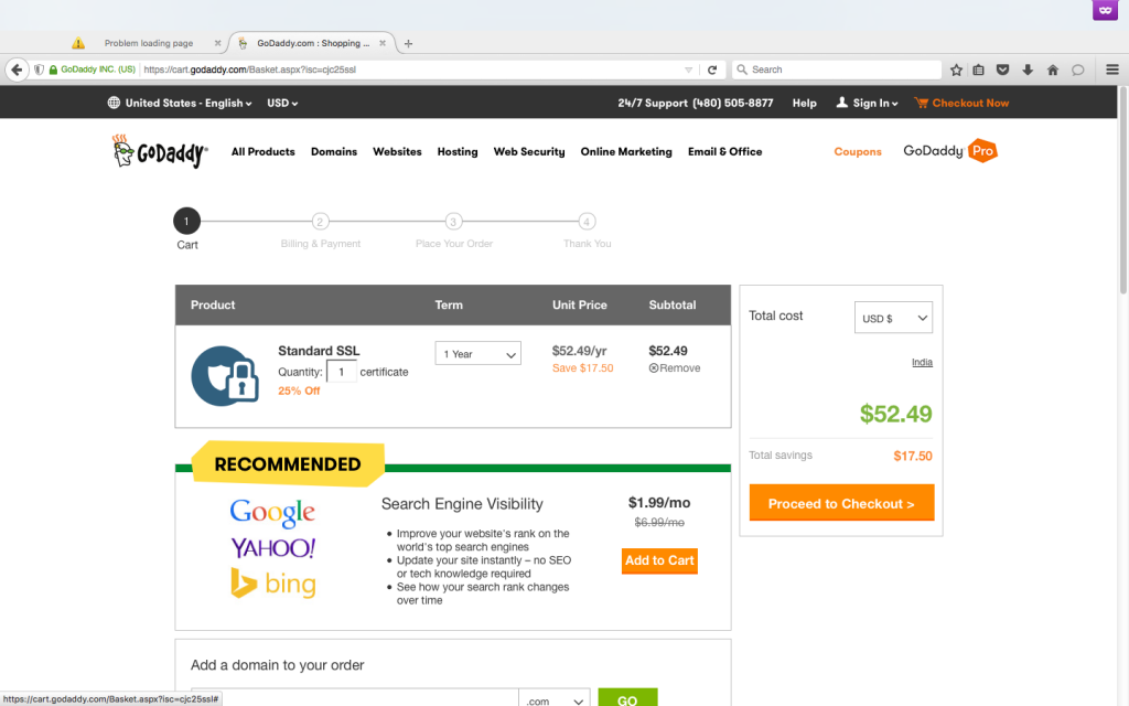 Godaddy SSL Coupon