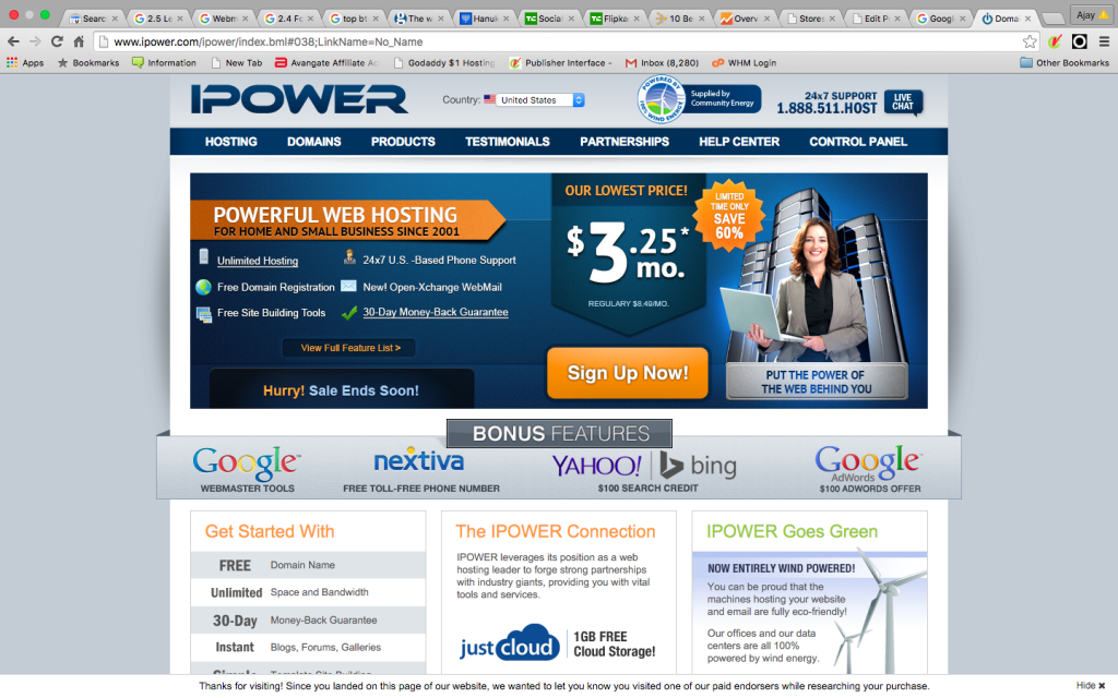 IPower Web Hosting offer