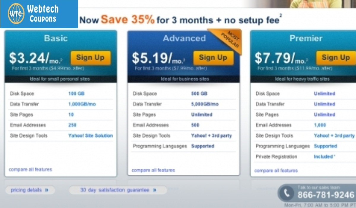 35% Off Yahoo Web hosting coupon