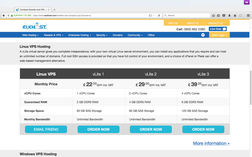 EUKhost coupons VPS