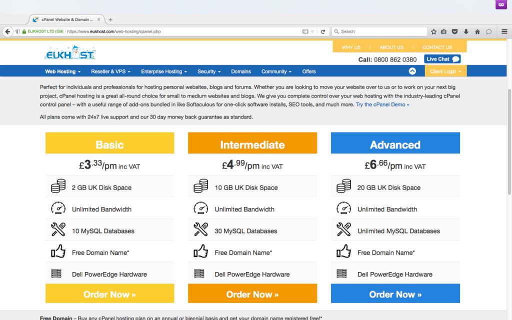 EUKhost Promo Code web hosting