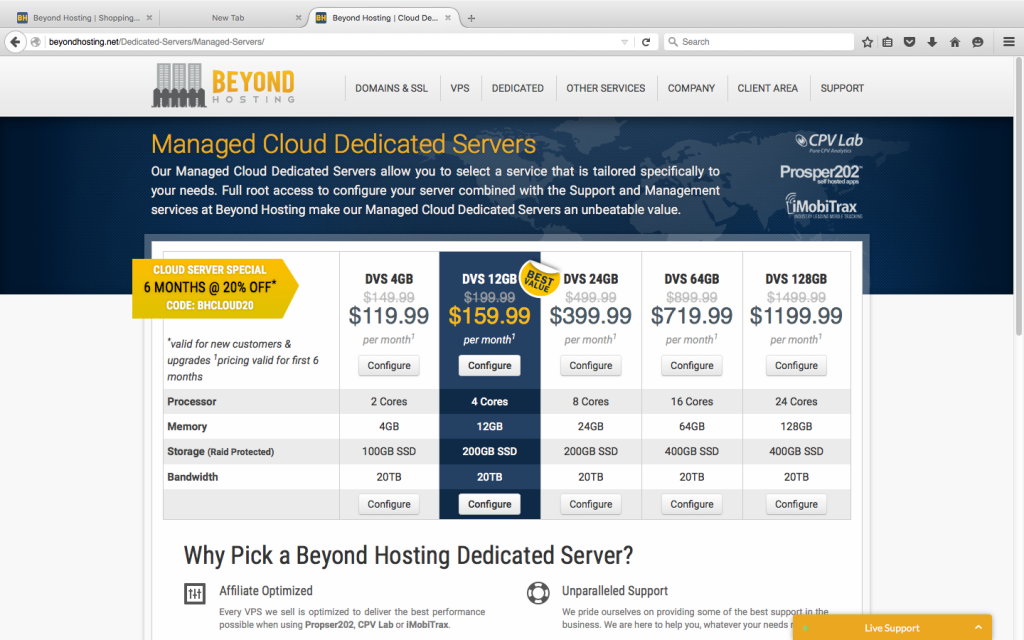 Beyond Hosting Dedicated Server Plans
