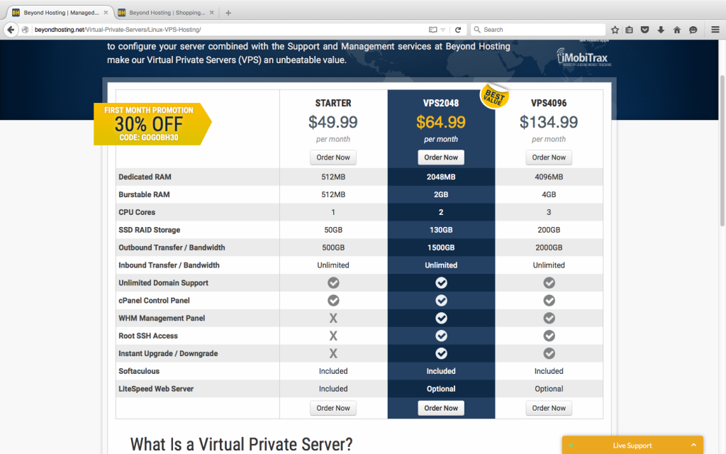 50% off VPS server Beyond hosting coupon