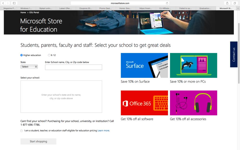 Microsoft 10% off
