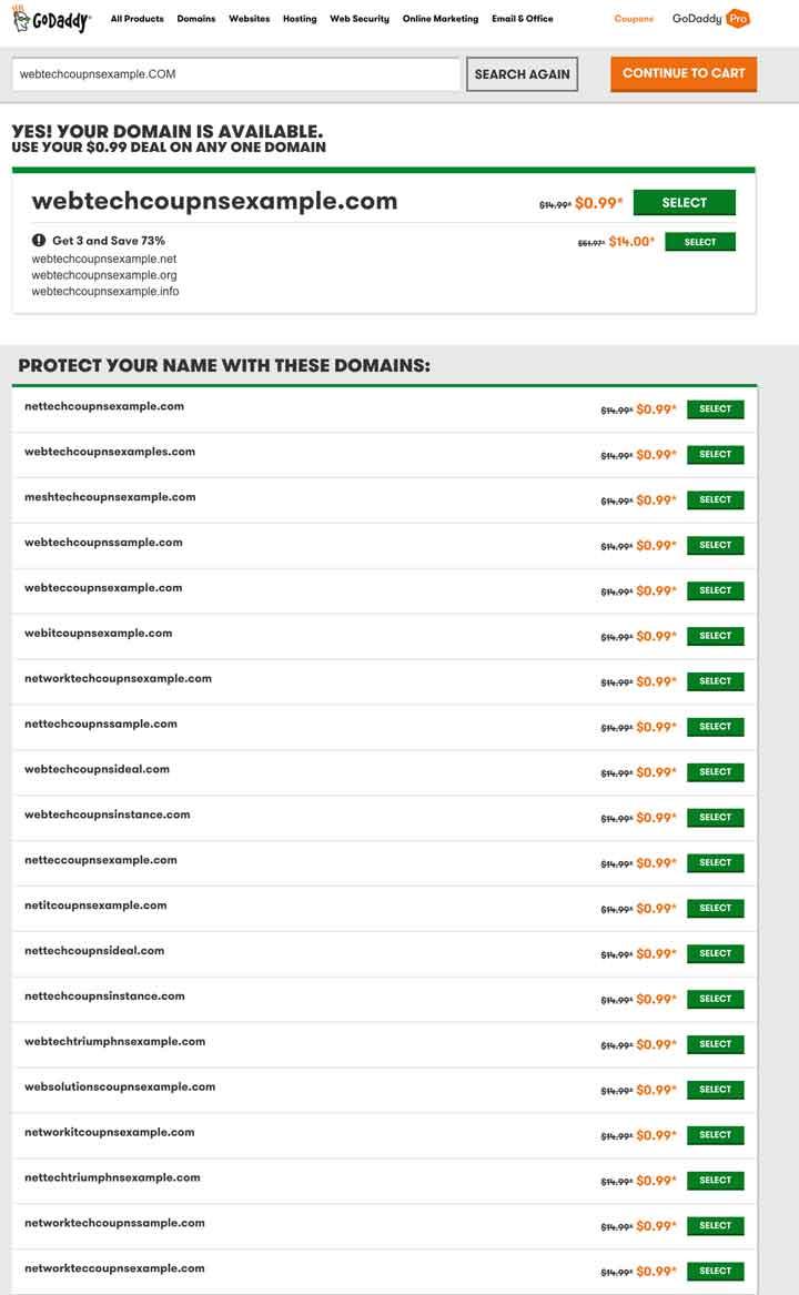 Godaddy Domain Name Avalablity