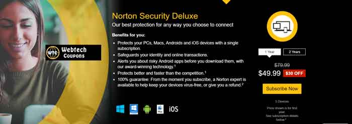 Norton $30 off Coupon Code