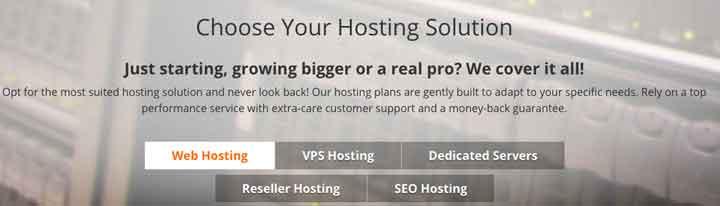 Host1Plus Product Range