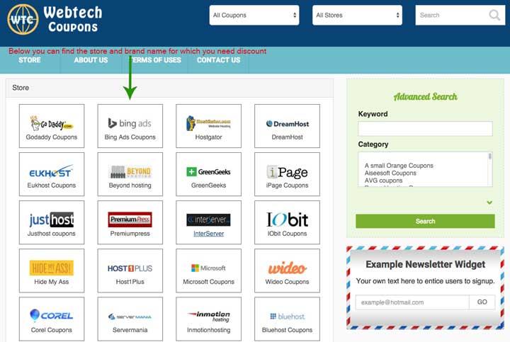 WebTechCoupons Stores