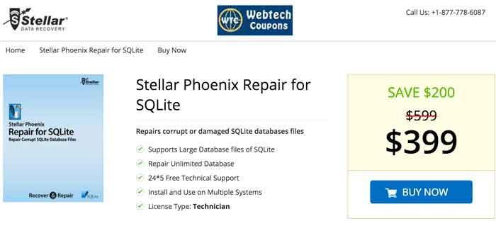 SQLite Coupon Code