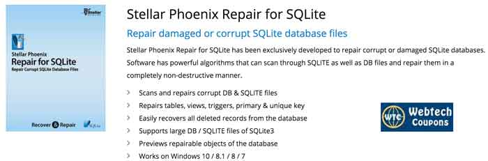 SQLite Recovery Coupons