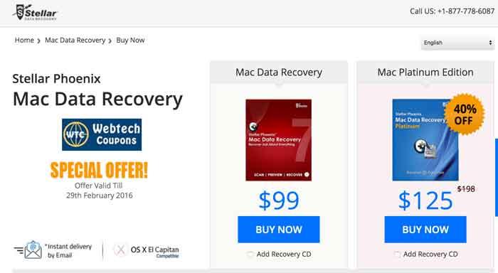Stellar Mac Data Recovery Promo Codes