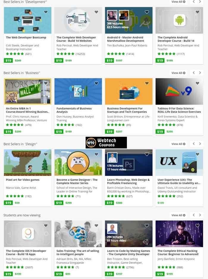 Udemy courses start at $15 only