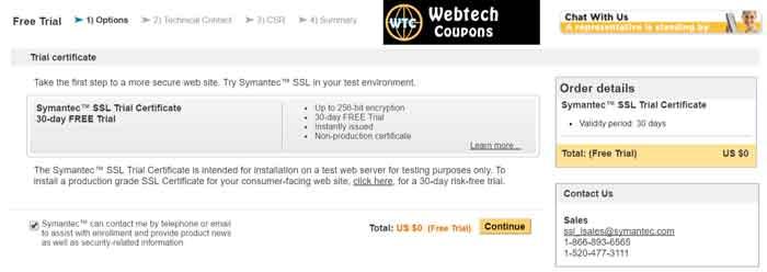 Free SSL Trial Symantec