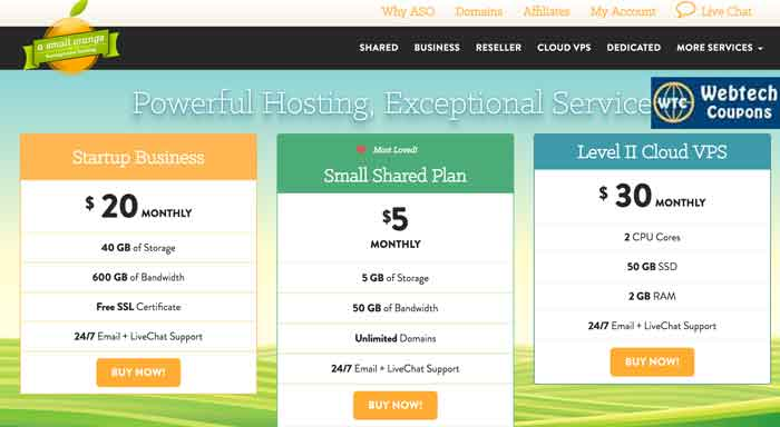 ASmallOrange Shared Hosting Coupons