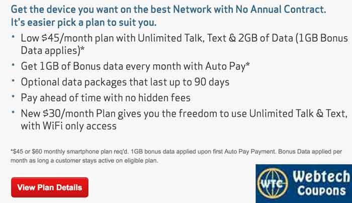 Verizonwireless Prepaid Plans Offers