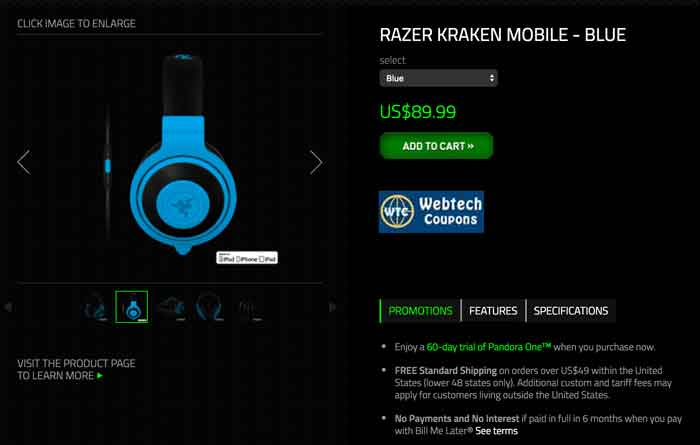 Razer Head Phone Coupons