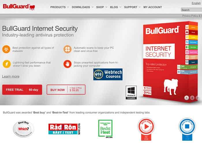 BullGuard Coupons give best saving on all BullGuard Softwares