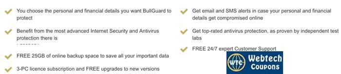 Latest BullGuard Premium Protection Promo Codes which gives good discount.