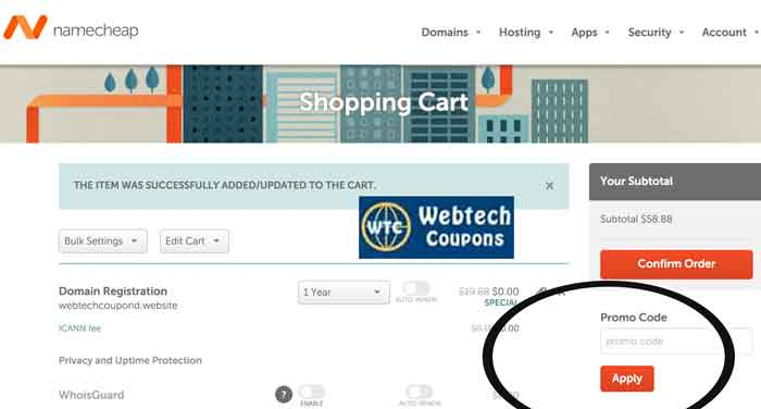 How to use NameCheap Coupons?