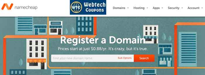 Get discount using NameCheap Domain Coupons