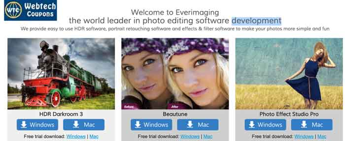 Everimaging Photo Editing Software live Discount Coupons