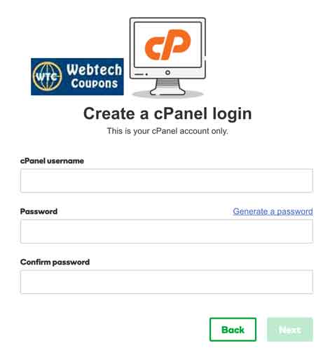 Create Your own CPanel Login Details with Godaddy Web Hosting.