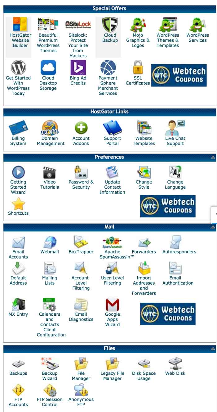 Best Hostgator Cloud Hosting Cpanel Features.