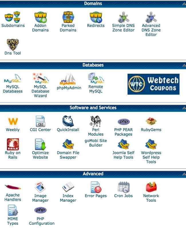 Hostgator Web Hosting Control Panel features and overview.