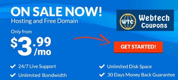 Hosting24 shared web hosting package starting $3.99