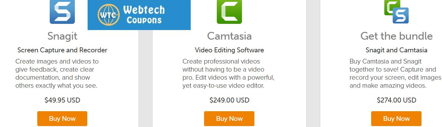 Camtasia and snagit bundle