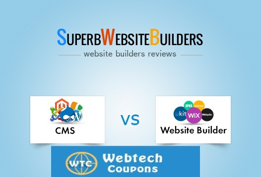 cms vs website builder