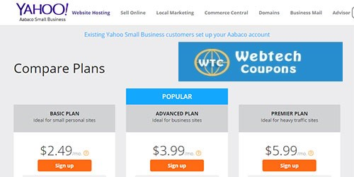 Yahoo Web Hosting Plans
