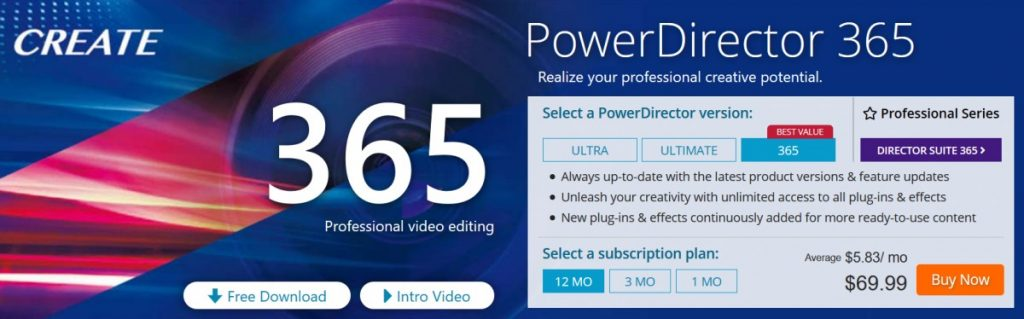 Cyberlink PowerDirector suite 365 Promo code