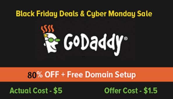 Godaddy Black Friday & Cyber Monday Sale