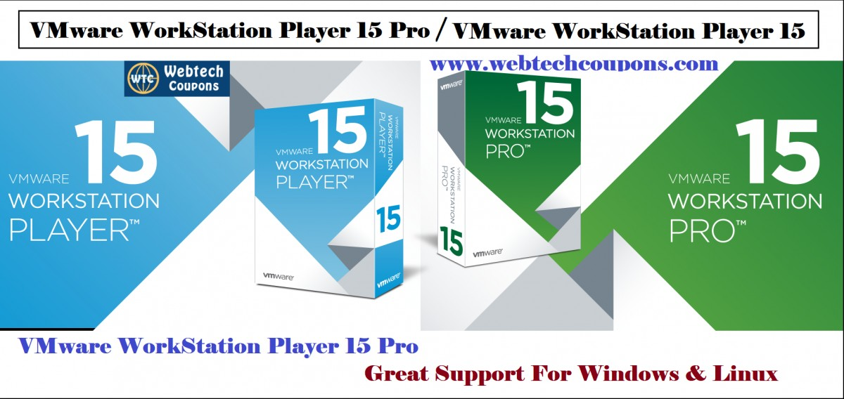 VMware Workstation Player 15 Coupon Code for Pro & Upgrade 2019