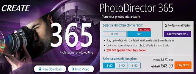CyberLink photodirector 365 Coupon