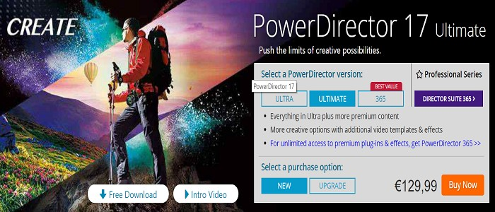 Cyberlink PowerDirector 17 Coupon