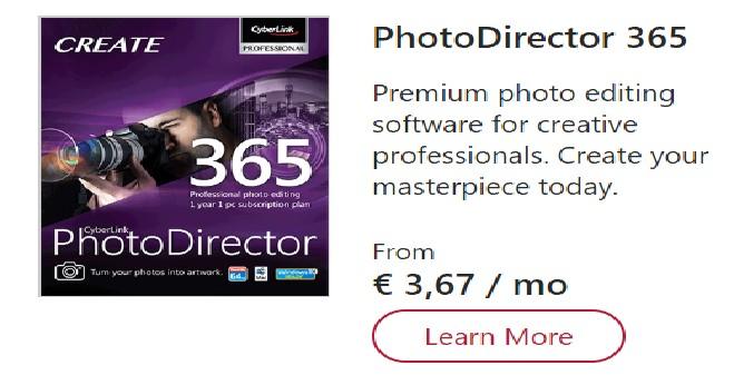 cyberlink photodirector 365 promo code