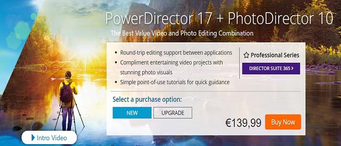 powerdirector 17 and photodirector 10 Coupon