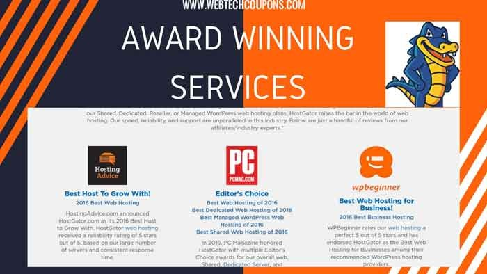 AWARD WINNING HOSTGATOR HOSTING