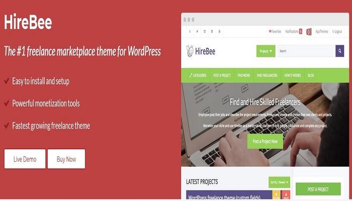 Appthemes Hirebee Premium WordPress Theme
