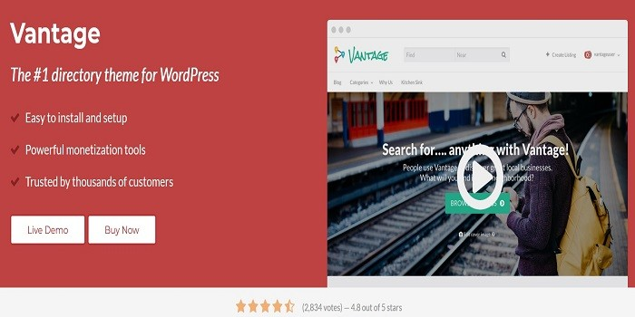 Appthemes vantage premium wordpress theme