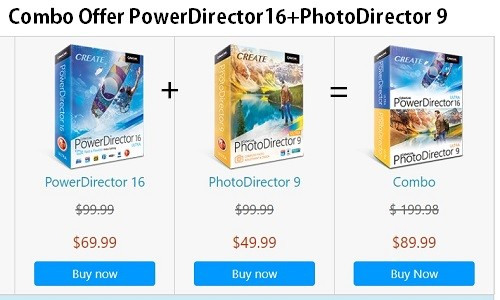 Compare PowerDirector 16 vs. PhotoDirector 9