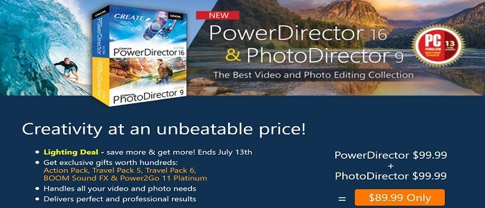 CyberLink powerdirector 16 & photodirector 9 Coupon