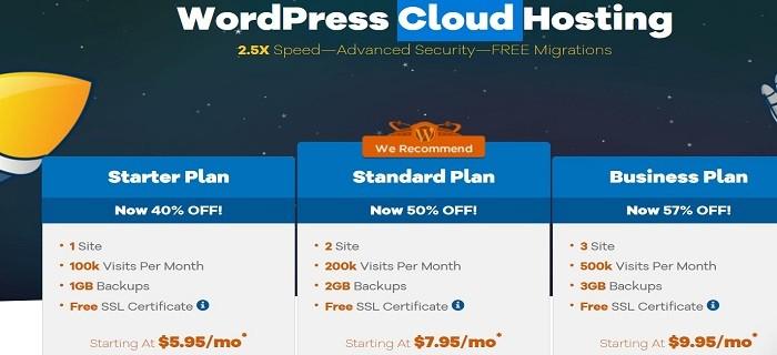 Hostgator Cloud WordPress Hosting plans
