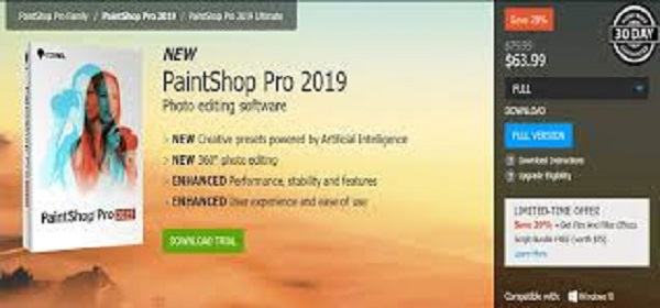 PaintShop Pro 2019 coupon code