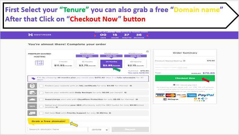 Click on checkout