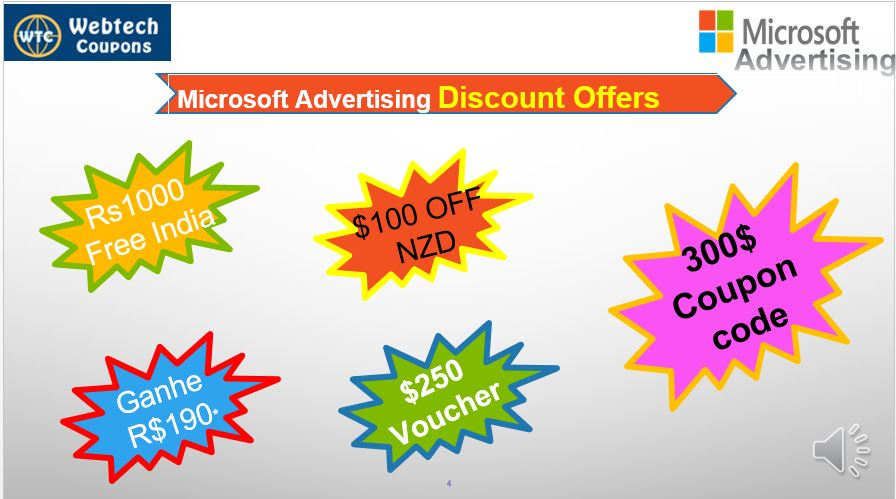 Microsoft advertising coupon Code