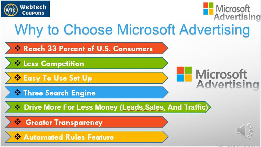 Microsoft advertising features